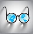 earth eye glasses vector image