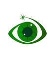 eye care logo design template vector image vector image