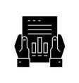 financial report black concept icon vector image vector image