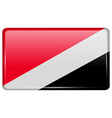 Flags Sealand Principality in the form of a magnet vector image vector image