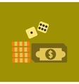 flat icon on stylish background Money dice chips vector image
