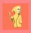 flat shading style icon halloween death scythe vector image