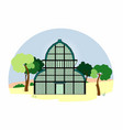 greenhouse in the park vector image vector image