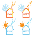 heating and cooling energy waste vector image