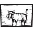 Hog Print vector image vector image