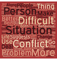 How to Deal With Difficult People text background vector image vector image