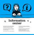 information center concept call center customer vector image vector image
