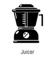 juicer icon simple black style vector image vector image
