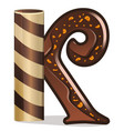 letter k candies chocolate vector image