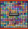 mega set of 244 gradients vector image vector image