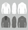 Men cardigan design template vector image