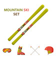 mountain skies icon collection set with equipment vector image vector image