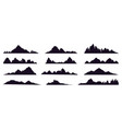 mountains silhouette mountain peak hills tops vector image