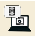 Movie icon and technology design vector image vector image