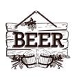 old wooden signboard beer vector image vector image