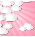 Paper clouds background vector image