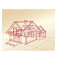 Plan a country house vector image vector image