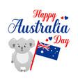 poster on white background happy australia vector image