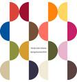 poster trendy color scheme by plain color arcs vector image vector image
