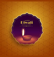 premium diwali festival greeting background with vector image vector image