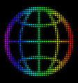 rainbow colored dot globe icon vector image vector image