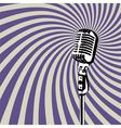 Retro Microphone 3 vector image vector image