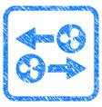ripple transaction arrows framed stamp vector image vector image