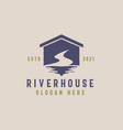 river house logo template vector image vector image