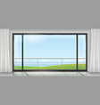 room with a huge window vector image vector image