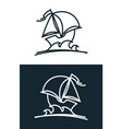 sail ship icon vector image vector image