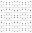 seamless pattern of hexagons with rounded corners vector image vector image