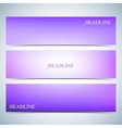 set horizontal multicolored backgrounds vector image vector image