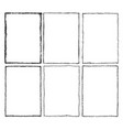set of sketchy frames vector image