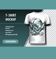 skull pirate t-shirt template fully editable vector image vector image