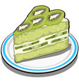 slice of delicious fruit kiwi cake dessert vector image