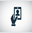 smartphone selfie icon for web and ui on white vector image