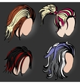 Stylish hairstyles vector image vector image