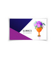 summer design business gift card - hand holding a vector image