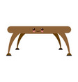 table platform stand template for object vector image