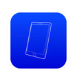 tablet computer icon blue vector image vector image