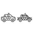 taxi line and glyph icon transportation and auto vector image vector image