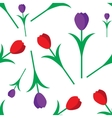 Tulips seamless pattern vector image vector image