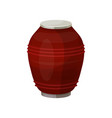 urn for dust cremation ceremony vase icon vector image