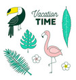 vacation time tropical set vector image