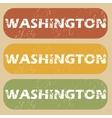 Vintage Washington stamp set vector image vector image