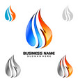 water drop oil gas 3d blue water drop logo design vector image vector image
