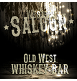 Wild west bar design vector image