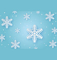 winter paper background vector image vector image
