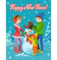 winter sport card vector image vector image