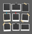 photo frame Set of realistic paper photograph vector image